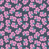001almonds set 1. Vector seamless wallpaper with almond flowers stock illustration