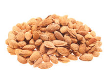 Almonds in shell. Royalty Free Stock Photos