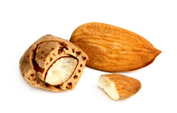 Almonds in shell. Stock Photos