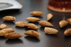 Almonds in shell Royalty Free Stock Photos