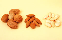 Almonds, shelled almonds, Stock Photo