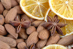 Almonds with spices Stock Photo