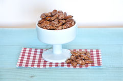 Almonds with sugar typical of Spain Royalty Free Stock Photo