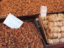 Almonds, Sultanas and Dried Figs, Athens Markets Stock Photo