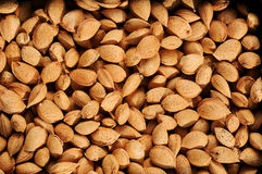 Almonds texture. A background made by almonds royalty free stock image