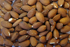 Almonds texture background Stock Photography