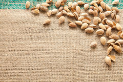 Almonds view from above Royalty Free Stock Photography