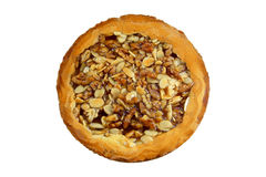Almonds And Walnuts Pie Stock Photography