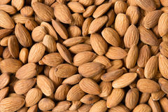 Almonds which can be used as a background Royalty Free Stock Image