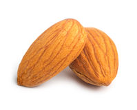 Almonds on white Stock Photography