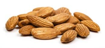Almonds on white Stock Photo