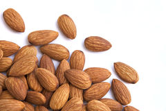 Almonds on white background Stock Photo