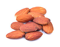 Almonds  on white background. Stock Images