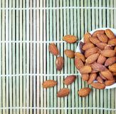 Almonds, The King of Nuts. royalty free stock images