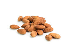 Almonds  on the white background Stock Image