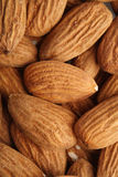 Almonds on white background - close-up Royalty Free Stock Photo