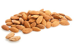 Almonds on a white background. Isolated Almonds on a white background Stock Images