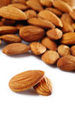 Almonds on white background Stock Image