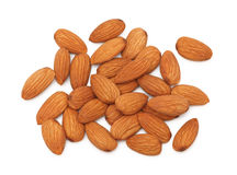 Almonds on white background Royalty Free Stock Photo