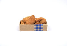 Almonds on white Stock Image
