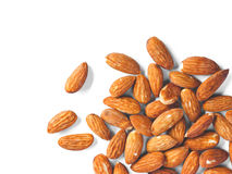 Almonds on white Stock Images