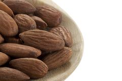 almonds on wooden spoon Royalty Free Stock Photo