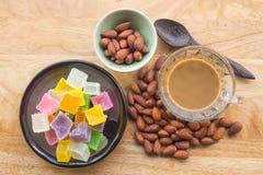 Almons e caffè Immagini Stock