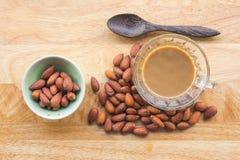Almons e caffè Fotografia Stock Libera da Diritti