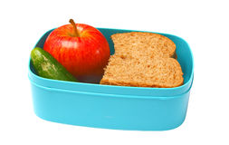 Almoço de escola saudável Fotos de Stock Royalty Free