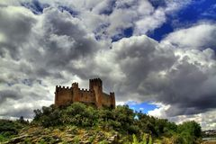 Almourol Castle stock photos