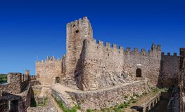 Almourol, Portugal - Castle of Almourol, an iconic Knights Templar fortress royalty free stock photo