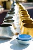 Alms-bacia da monge da prata & do ouro Fotografia de Stock Royalty Free