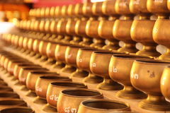 Alms bowl. For donate money in Buddhism royalty free stock image