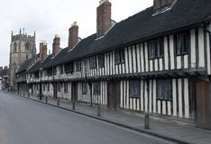 Alms Houses. Historic poor houses royalty free stock photos