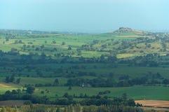 Almscliffe brant klippa från Otley Chevin Royaltyfria Bilder