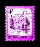 Almsee, bello Austria serie dell'Austria settentrionale, circa 1973 Immagine Stock