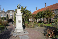almshouse Leiden stary pompować wodę Obrazy Royalty Free
