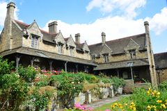 Almshouses in grounds of old charity hospital Stock Image