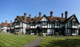 Almshouses terraced cottages tring hertfordshire Stock Image
