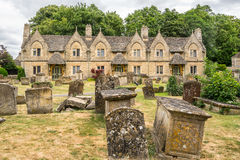 Almshouses w St Marys kościół Witney Zdjęcia Stock