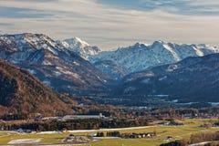 Almtal dolina, Austria dni w Almtal dolinie z pogodnymi widokami duzi ciężary Gebirge - zeszłej zimy zdjęcie royalty free