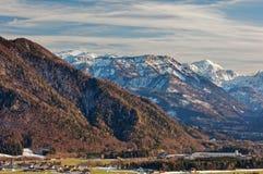 Almtal dolina, Austria dni w Almtal dolinie z pogodnymi widokami duzi ciężary Gebirge - zeszłej zimy obraz royalty free