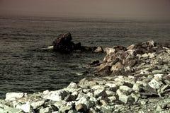 Almuñecar海边在一个晴天5 库存照片