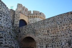 Almuñecar Castle Entrance ( Granada , Spain ). Castle and entrance battlements located in Almuñecar on the Costa Tropical of Granada in Spain Stock Photos