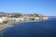 almu海岸ecar格拉纳达西班牙 免版税库存图片