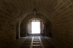 Almudaina and Majorca Cathedral tunnel Stock Photography