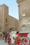 Almudaina palace and Cathedral of Palma de Majorca. Gothic monument Balearic islands Spain Stock Photos