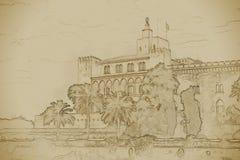 Almudaina palace Stock Image