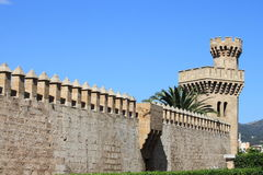 Almudaina Palace in Palma de Mallorca Royalty Free Stock Image