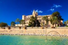 Almudaina Palace in Palma de Mallorca. Spain Stock Photos